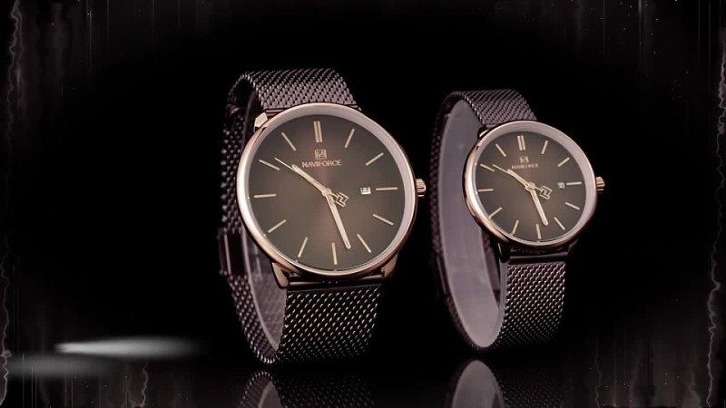 Naviforce парные часы для мужчин и женщин роскошные брендовые простые наручные влюбленных кварцевые