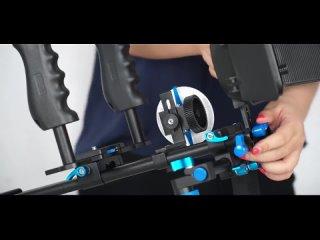 Камера клетка видео плечо rig для sony a7 a7r a7rs ii iii a9 a6300 a6500 gh4 gh5 gh5s canon 6d 7d 5d