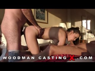 Woodman Casting X The guys at the casting fucked a chick in two dicks