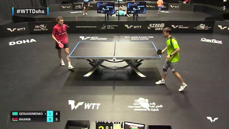 Kirill Gerassimenko vs Aliaksande Khanin _ WTT Contender Doha 2021 _ Mens Singles _ QUAL Highlights