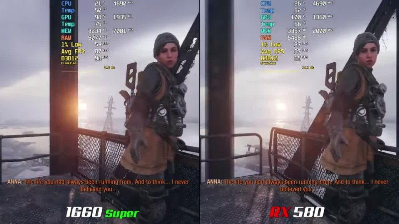 GTX 1660 Super vs RX 580 Test with Latest Drivers