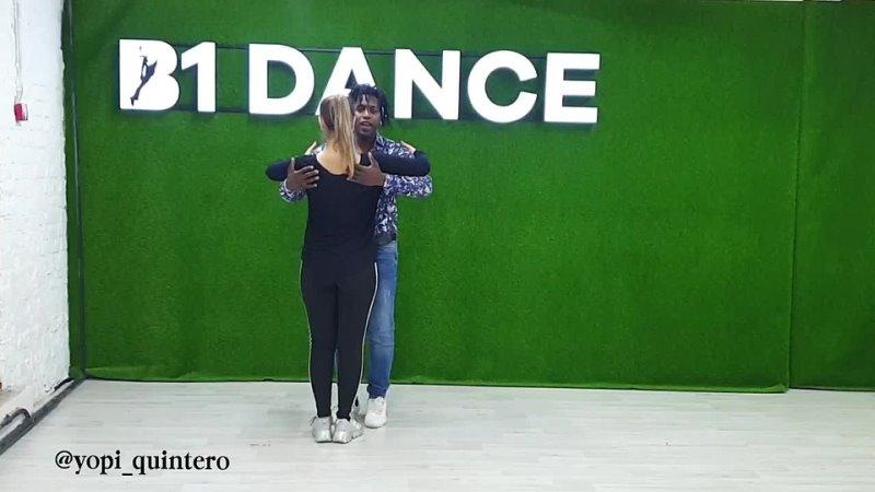 Бачата урок видео обучение Yopi Quintero @yunna fr @b1dance