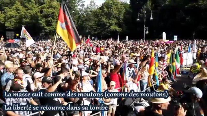 Zik de fou fake news média a la manif de berlin