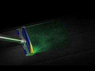 Беспроводной пылесос Dyson V15с лазером для подсветки пыли на полу