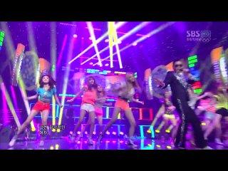PSY - GANGNAM STYLE (ft. Hyuna, Kara, SISTAR) Inkigayo Special StageHD 1080P