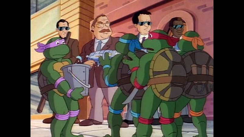 S03e25 Черепашки ниндзя 1989 Teenage Mutant Ninja Turtles Corporate Raiders from Dimension X Налётчики из измерения Икс