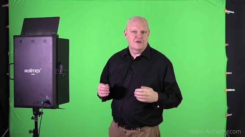 Video Alchemy Getting the Best Green Screen Chroma key lighting setup on a budget