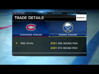 NHL Tonight: Eric Staal trade Mar 26, 2021