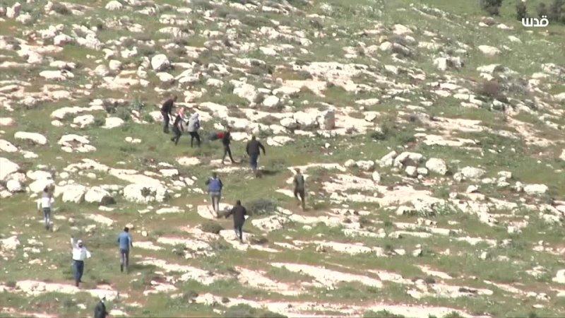 ⚡Другие ракурсы момента когда сионисты застрелили Атефа Ханайше во время протеста в Бейт Даджане недалеко от Наблуса
