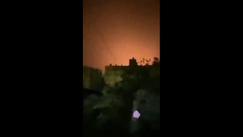 💥 Сионистская авиация совершила террористический налёт и обстрел окрестностей Дамаска этой ночью