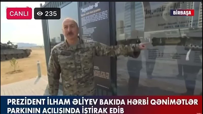 🇦🇿Президент Азербайджана Ильхам Алиев про обломки ракеты «Искандер-М» найденных в городе Шуша.