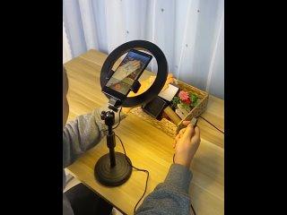 Кольцевая настольная лампа для фото и видео
