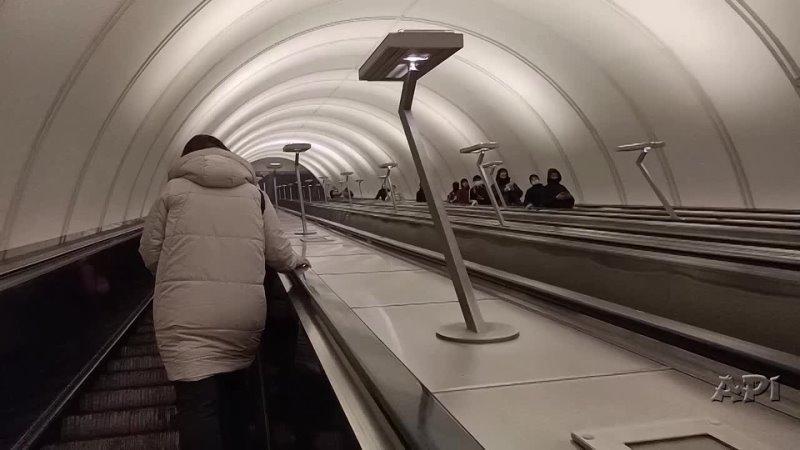 Эскалатор подъём м Марьина Роща