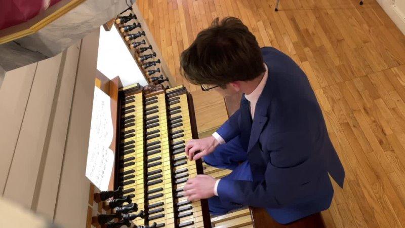 """1100 J S Bach Allein zu dir Herr Jesu Christ"""" Neumeister Collection BWV 1100 Bálint Karosi"""