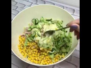 Очень вкусный и простой салатик вышел!