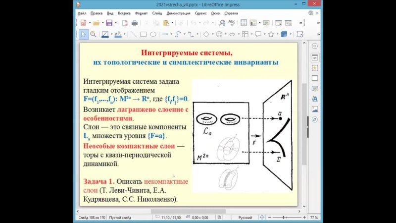 Встреча 21 Особенности и симплектическая геометрия