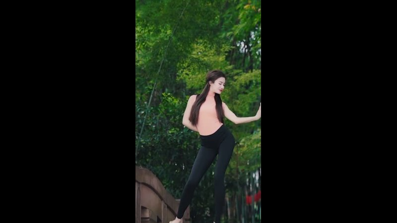 Красавца и элегантный китайский танец