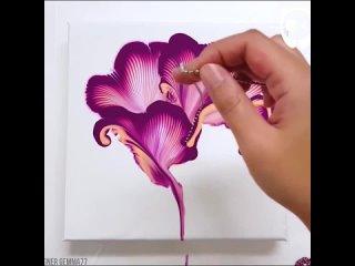 Классная техника рисования цепочкой