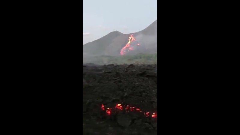 Лавовые поля вулкана Пакая Гватемала 30 03 2021
