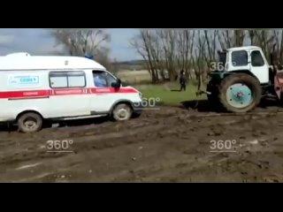 В станице Кагальницкой Ростовской области мужчина скончался, находясь в застрявшей в грязи машине скорой помощи