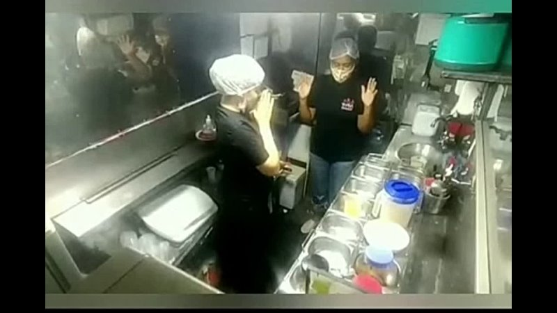 Owners of a poke food truck celebrating and praying after each sale