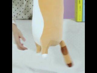 Милая большая реалистичная мягкая и удобная длинная плюшевая игрушка для кошек, плюшевая подушка для кошек, детский подарок на