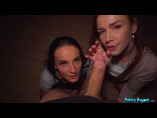 PublicAgent FakeHub Alexis Crystal & Lexi Dona - Lucky Agent in Basement Threesome
