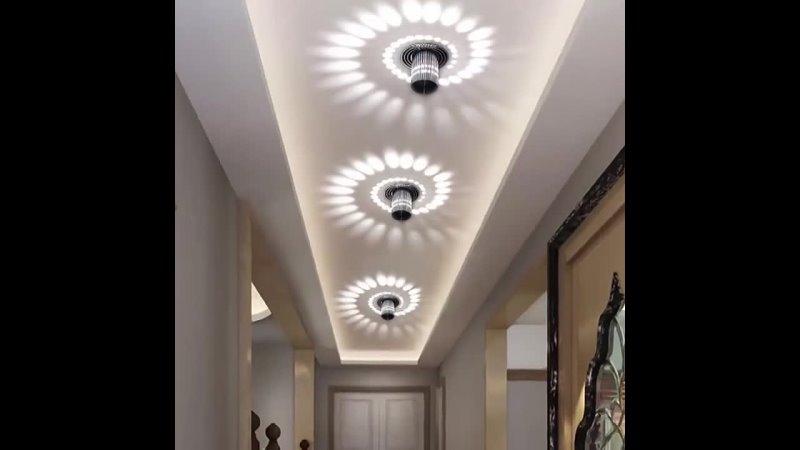 Спиральное светодиодный настенный светильник