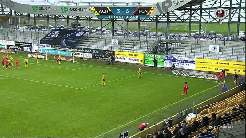 Чемпионат Дании 2020 21 12 й тур Хорсенс Норшелланн 2 тайм