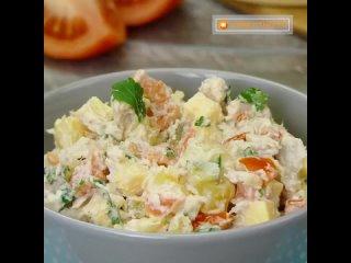Очень сытный и вкусный салат