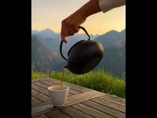 A perfect morning with a cup of