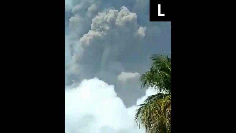 Извержение вулкана в Сент Винсент