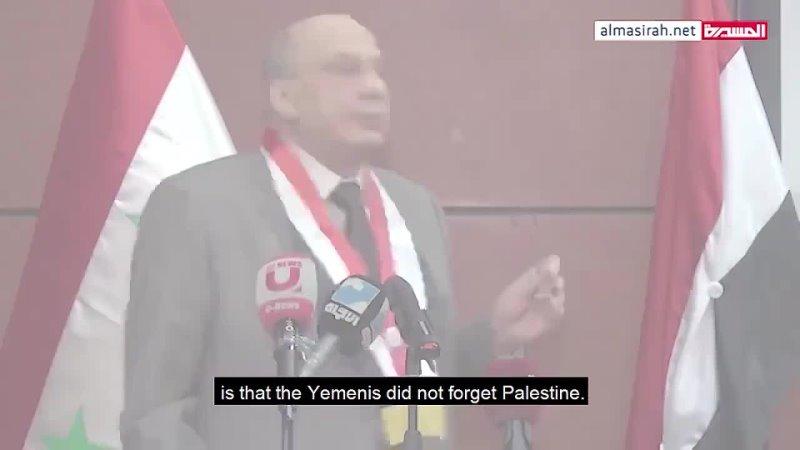 Yemeni students in Aleppo protest the US Saudi war on Yemen