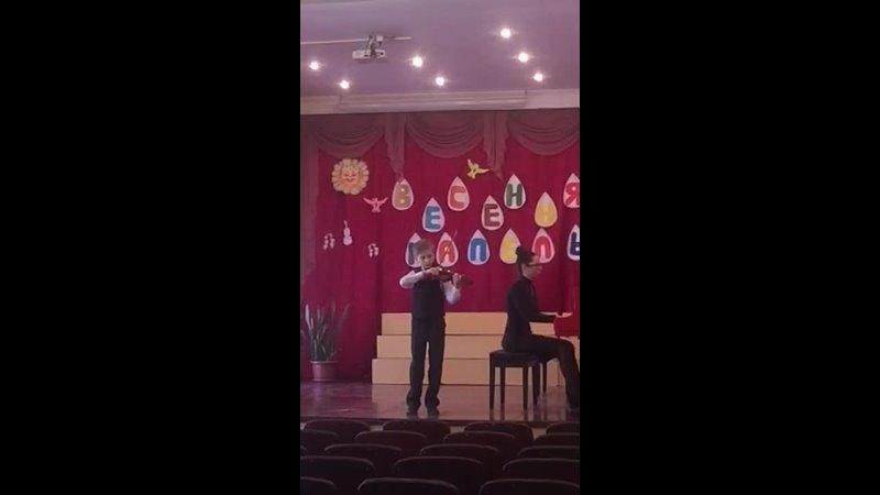 Выступление Костя на конкурсе Весенняя Капель 2021