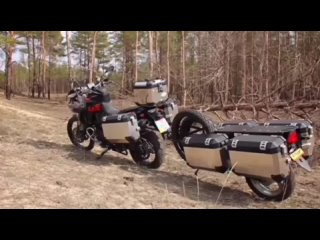 BMW F800 adventure, with luggage and cargo system (Convoy)