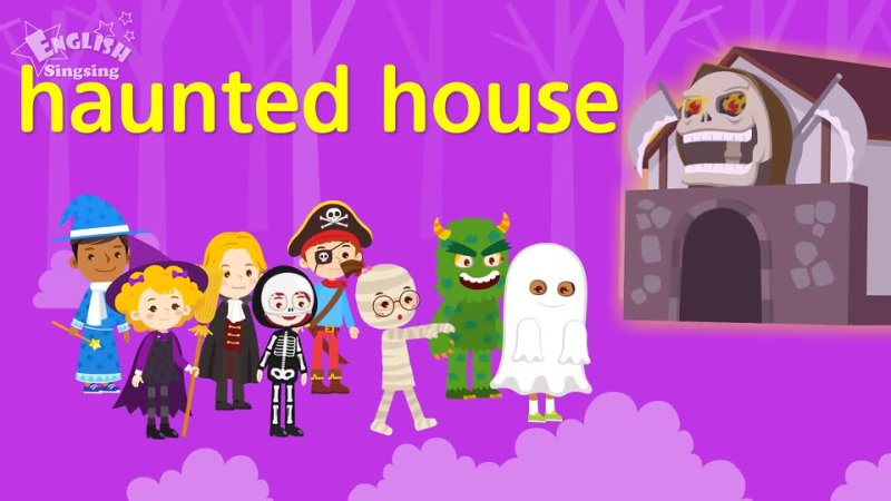 Kids vocabulary - Halloween monster costumes - English educational video for kids