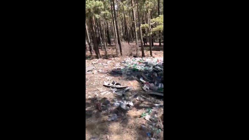 Горы бутылок могильные плиты и строительный мусор за кафе Марал