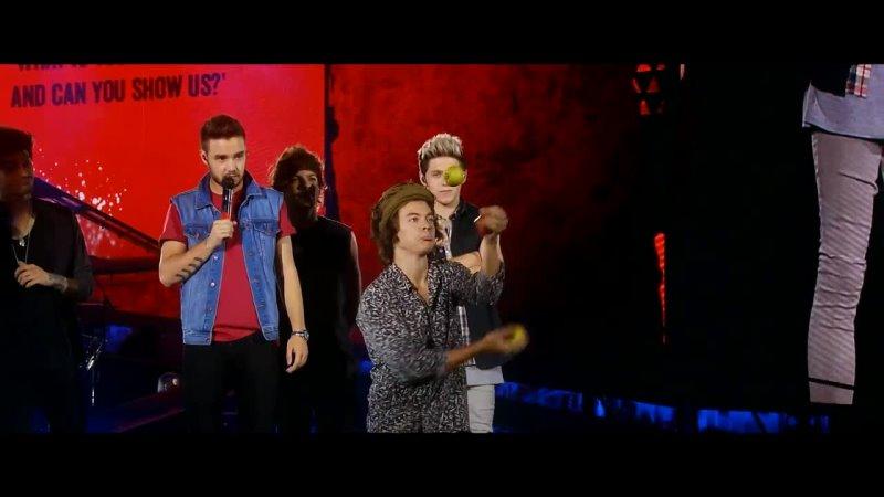 Гарри Стайлс жонглирует на концерте One Direction на San Siro Stadium 2014