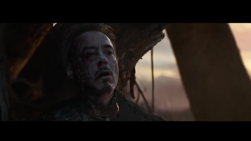 Железный человек после щелчка камнями бесконечности