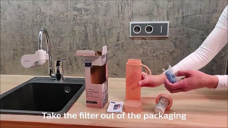 AWP2712RD Unboxing of Philips GoZero Hydration bottle