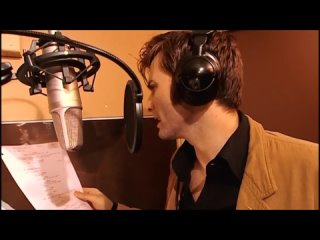 David Tennant recording audio for the Doctor Who The Infinite Quest