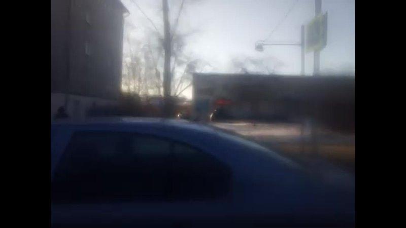 Маршрут №82 М2 Октябрьский городок Недостоево дорога на улицу Вокзальная Весна Март Утро