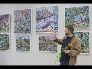 В Выставочном центре Протвино открылась выставка работ тульского художника Павла Ганжи «На старой открытке».