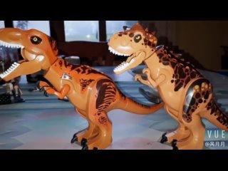 Парк и мир юрского периода 2 конструктора динозавры фигурки кирпичи тираннозавр рекс индоминус рекс и рекс собрать детские