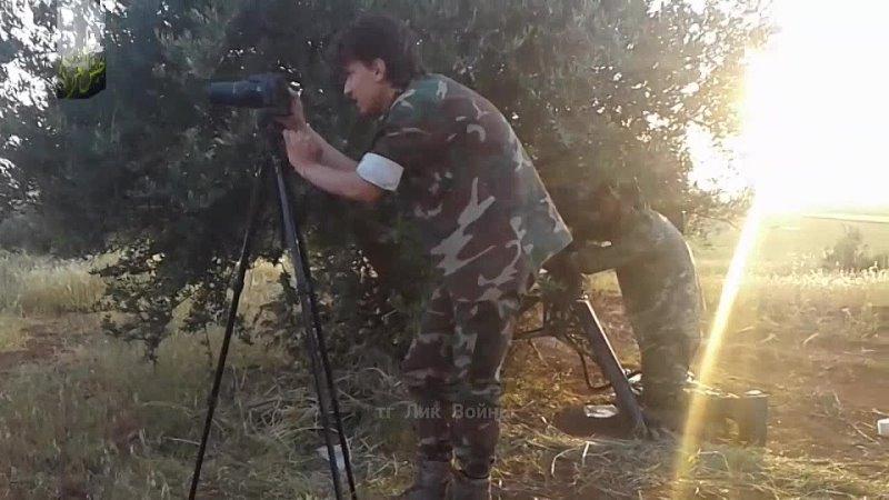 Видео поражения из ПТРК BGM 71 TOW сирийской БМП 1 предположительно в провинции Алеппо лето 2016 года