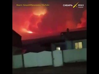 Деревня в эпицентре огня, Красноярский край, в ночь на 23 апреля