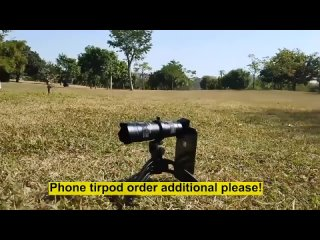 TOKOHANSUN 48X Mobile Phone Monocular Telescope Lens astronomical zoom lens extendable tripod for iPhone 7 8 Plus 11 Smartphones