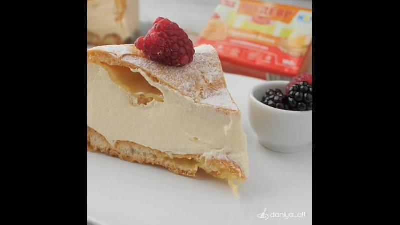 Сегодня у нас на десерт польский торт Карпатка Больше рецептов в группе Десертомания