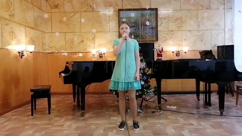 Гаркушенко Соня Я нарисую счастье на новогодний концерт