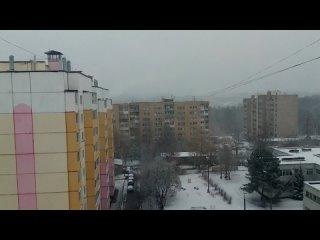 Последний снегопад в Смоленске  ❄️🌨️